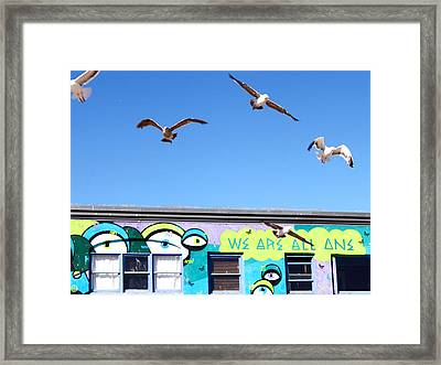 Good Vibes At Venice Beach Framed Print by Casey Berger