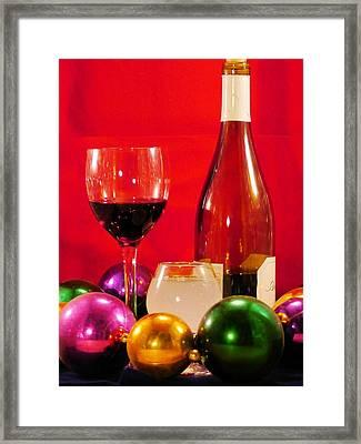 Good Wine Good Times Framed Print