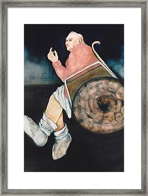 Framed Print featuring the painting Goodbye Mother by Irena Mohr