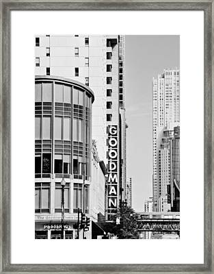 Goodman Theatre Center Chicago Framed Print by Christine Till