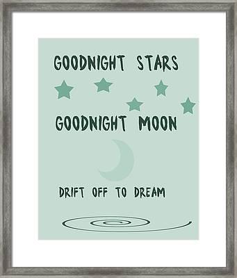 Goodnight Stars Goodnight Moon Framed Print