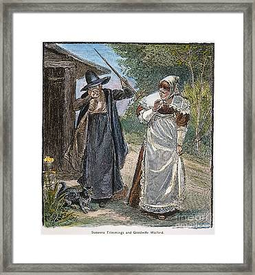 Goodwife Walford, 1692 Framed Print by Granger