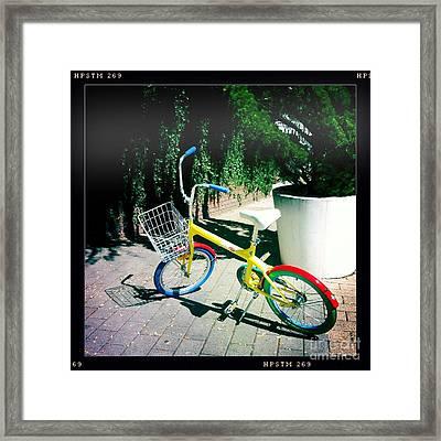 Google Mini Bike Framed Print by Nina Prommer