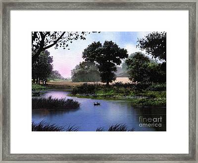 Goose Pond Framed Print by Robert Foster