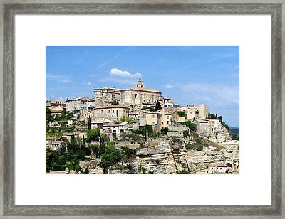 Gordes In Provence Framed Print by Carla Parris