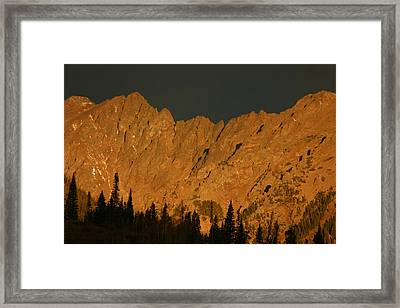 Gore Range Alpenglow Framed Print by Bob Berwyn