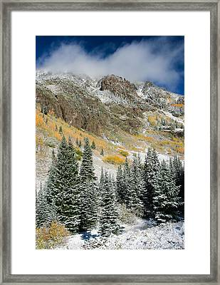 Gore Range Cold Framed Print by Adam Pender
