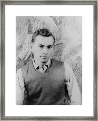 Gore Vidal, Portrait By Carl Van Framed Print by Everett