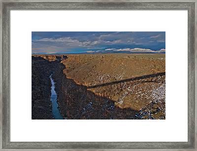 Framed Print featuring the photograph Gorge Bridge Shadow by Britt Runyon