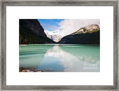 Gorgeous Lake Louise Framed Print by Cheryl Baxter