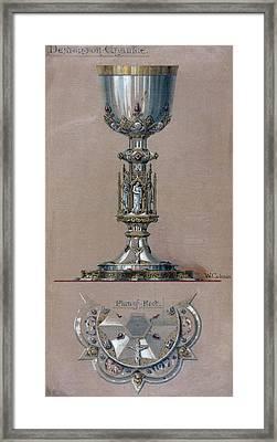 Gorham Silver. Design Drawing Framed Print by Everett