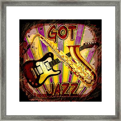 Got Jazz Abstract Framed Print by David G Paul