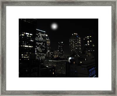 Gotham City Framed Print by David Dehner