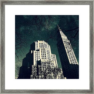 Gotham City Metlife Framed Print by Natasha Marco