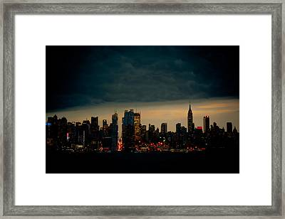 Gotham Nights Framed Print by David Hahn