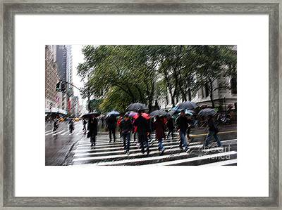 Gotham Rainy Day Framed Print by David Bearden
