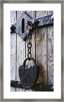 Gothic Lock Framed Print by Wendy White