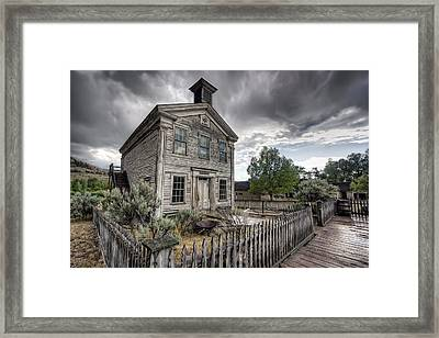 Gothic Masonic Temple 2 - Bannack Ghost Town Framed Print by Daniel Hagerman