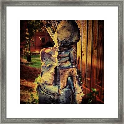 Gothic Melded Men Sculpture #gothic Framed Print