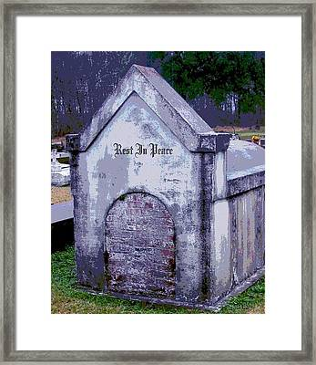Gothic Rest In Peace Framed Print by Marian Hebert