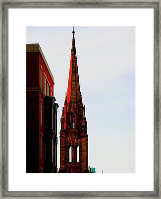 Gothic Spire Framed Print by Marie Jamieson
