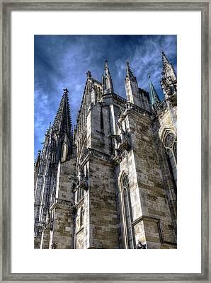 Gothic Stonework Framed Print