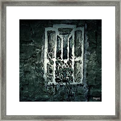 Gothic Window Framed Print