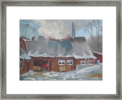 Gould's Sugar House Framed Print by Len Stomski