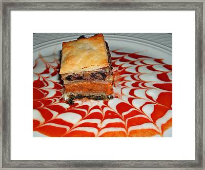 Gourmet Pumpkin Napolean With Portobello Mushrooms Framed Print