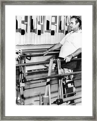 Gov. George Wallace Walks Framed Print by Everett