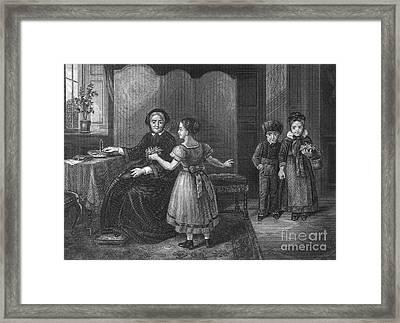 Governess, C1830 Framed Print
