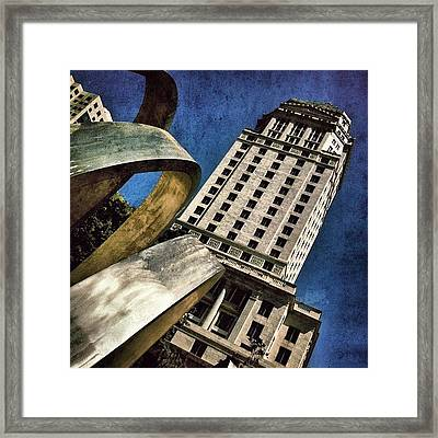 Government Center Framed Print