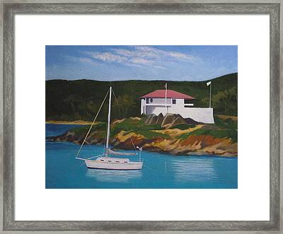 Government House At Cruz Bay Framed Print by Robert Rohrich
