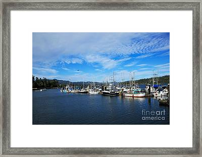 Government Wharf In Sooke Harbour Framed Print by Louise Heusinkveld