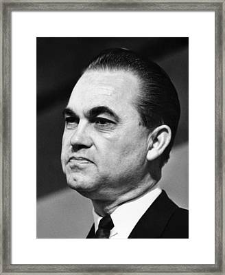 Governor George Wallace Of Alabama Framed Print by Everett