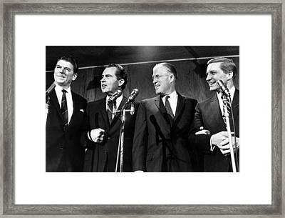 Governor Ronald Reagan, Richard Nixon Framed Print by Everett