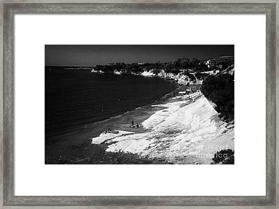Governors Beach Near Limassol Lemesos Republic Of Cyprus Europe Framed Print