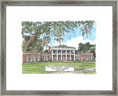 Governors Mansion Tallahassee Florida Framed Print