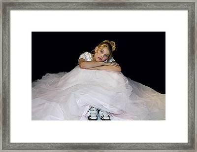 Gown And Sneakers Framed Print by Trudy Wilkerson