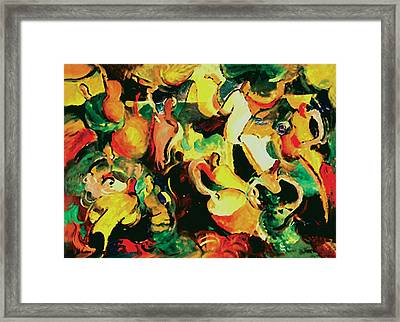 Gozando Framed Print by John Crespo Estrella