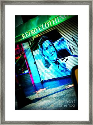 Grab A Star On Sunset Boulevard In Hollywood Framed Print