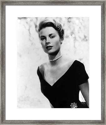 Grace Kelly, 1956 Framed Print by Everett