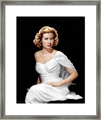 Grace Kelly, Ca. 1954 Framed Print by Everett