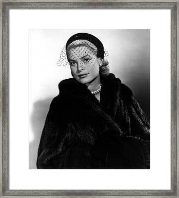 Grace Kelly In The Early 1950s Framed Print by Everett