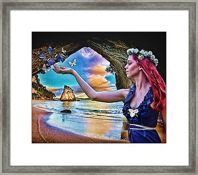 Framed Print featuring the digital art Grace by Mary Morawska
