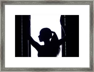 Graceful Silhouette Framed Print by Jenny Rainbow