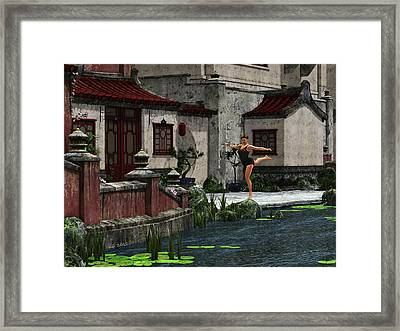 Graceful Stand Framed Print