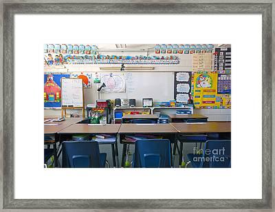 Grade School Classroom Framed Print by Will & Deni McIntyre
