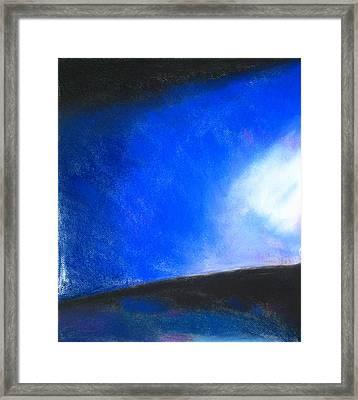 Gradual Blue Framed Print