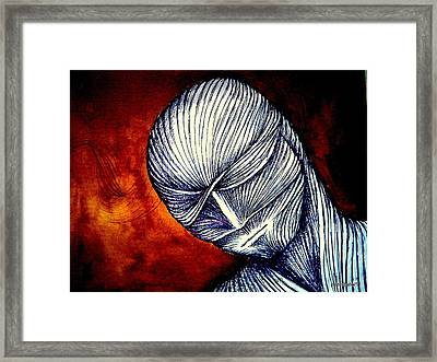 Gradually Falling Asleep In Apathy Of Unconsciousness Framed Print